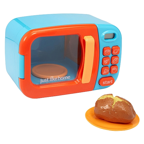 Just Like Home Chefs Microwave In Blue Santas Toy House